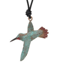 Hummingbird Rufous Pendant Necklace | Nature Jewelry