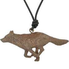 Wolf Running Pendant Necklace   Nature Jewelry