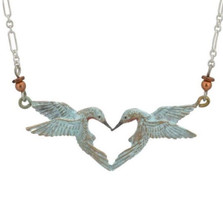 Hummingbird Heart Necklace | Nature Jewelry