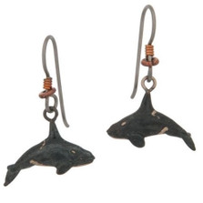 Orca Bronze Earrings | Nature Jewelry
