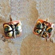 Butterfly Bimetal Victorian Earrings | Nature Jewelry