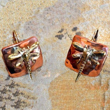 Dragonfly Mirror Earrings | Nature Jewelry