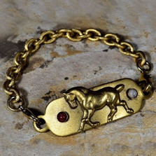 Horse Bracelet with Rockband Plaque | Nature Jewelry