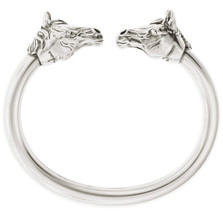 Horse Head Sterling Silver Bracelet | Nature Jewelry