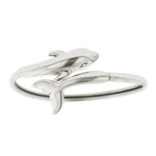 Dolphin Sterling Silver Bracelet | Nature Jewelry