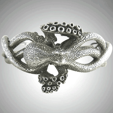 Octopus Sterling Silver Cuff Bracelet | Nature Jewelry