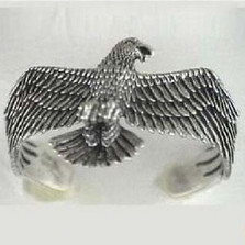 American Eagle Sterling Silver Cuff Bracelet | Nature Jewelry