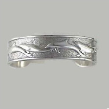 Dolphin Sterling Silver Cuff Bracelet | Kabana Jewelry | Kbr470