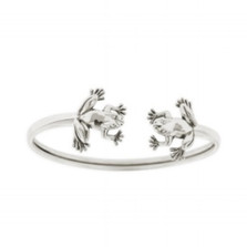 Double Frog Sterling Silver Bracelet | Nature Jewelry