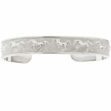 Horse Sterling Silver Cuff Bracelet | BR773 | Nature Jewelry