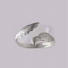 Northwestern Eagle Sterling Silver Cuff Bracelet | Nature Jewelry