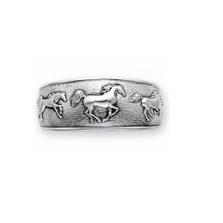 Horse Sterling Silver Cuff Bracelet | Nature Jewelry