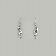 Dolphin Pod Sterling Silver Wire Earrings | Nature Jewelry