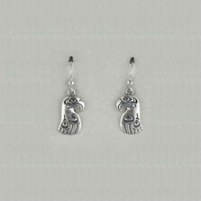 Eagle Totem Sterling Silver Earrings | Nature Jewelry