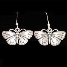 Butterfly Sterling Silver Earrings | Nature Jewelry