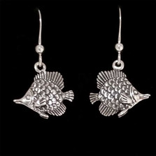 Tropical Fish Sterling Silver Wire Earrings | Nature Jewelry