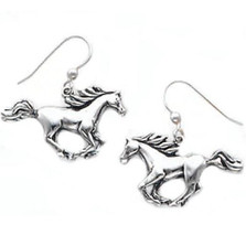 Cantering Horse Sterling Silver Earrings | Nature Jewelry
