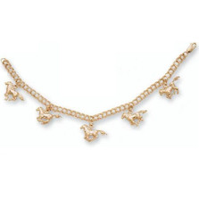 Horse 14K Gold Charm Bracelet | Nature Jewelry