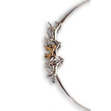 Thoroughbred Horses 14K Gold & Silver Collar Necklace | Nature Jewelry