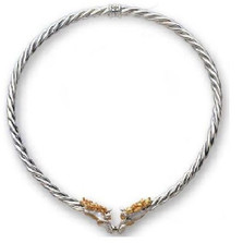 Horse 14K Gold & Sterling Silver Collar Necklace | Nature Jewelry