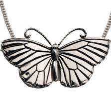 Butterfly Pendant Sterling Silver Necklace | Nature Jewelry