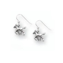 Horse Foal Sterling Silver Wire Earrings | Nature Jewelry