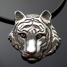 Tiger Silver Pendant Necklace | Nature Jewelry