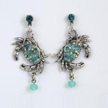 Crab and Starfish Dangle Earrings | Nature Jewelry