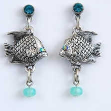 Fish Dangle Earrings | Nature Jewelry
