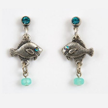 Baby Fish Dangle Earrings | Nature Jewelry