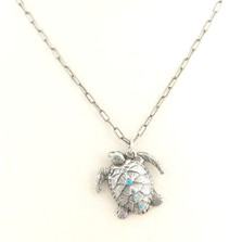 "Turtle""II Mare"" Pendant Necklace 