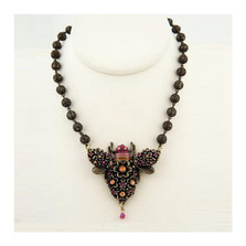 Chunky Floral Bee Necklace-Filigree Ball Chain | Nature Jewelry