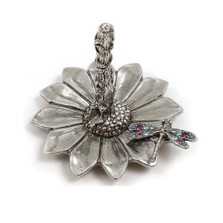 Dragonfly on Sunflower Ring Stand | Nature Jewelry