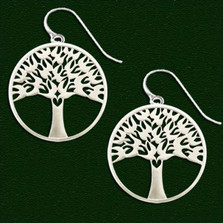 Arbor Vitae Wire Earrings | Nature Jewelry