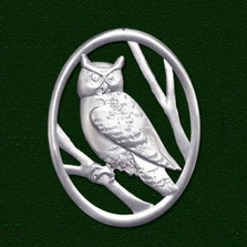 Owl Pewter Pin | Nature Jewelry