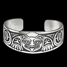 Biorka Bear Sterling Silver Cuff Bracelet   Nature Jewelry