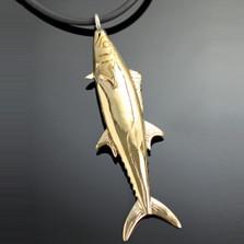 Kingfish Bronze Pendant Necklace | Nature Jewelry