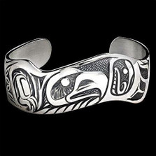Eagle Pride Sterling Silver Cuff Bracelet |  Metal Arts Group Jewelry | MAG11201