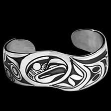Double Eagle Sterling Silver Cuff Bracelet |  Metal Arts Group Jewelry | MAG11206
