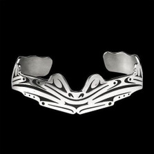 Frogs Sterling Silver Tribal Cuff Bracelet | Nature Jewelry