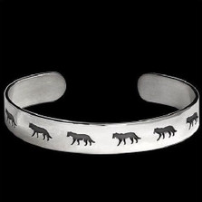 Wolf Shadows Sterling Silver Bracelet   Nature Jewelry