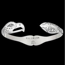 Eagle-Raven Lovebirds Silver Tribal Cuff Bracelet | Nature Jewelry