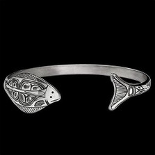 Halibut Sterling Silver Wrap Cuff Bracelet | Nature Jewelry