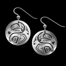Eagle Tribal Sterling Silver Earrings | Nature Jewelry