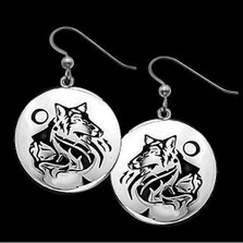 Wolf Earrings Maiden Clan   Nature Jewelry