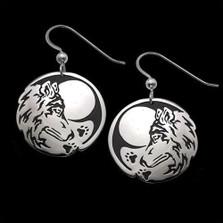 Wolf Seeker Sterling Silver Earrings   Nature Jewelry