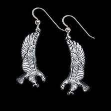 Eagle Sterling Silver Earrings | Nature Jewelry