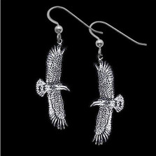 Flying Eagle Sterling Silver Earrings | Nature Jewelry