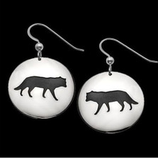 Wolf Shadows Sterling Silver Earrings   Nature Jewelry