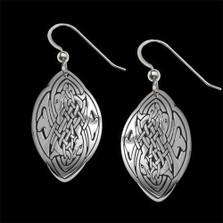 Dolphin Love Celtic Sterling Silver Earrings | Nature Jewelry
